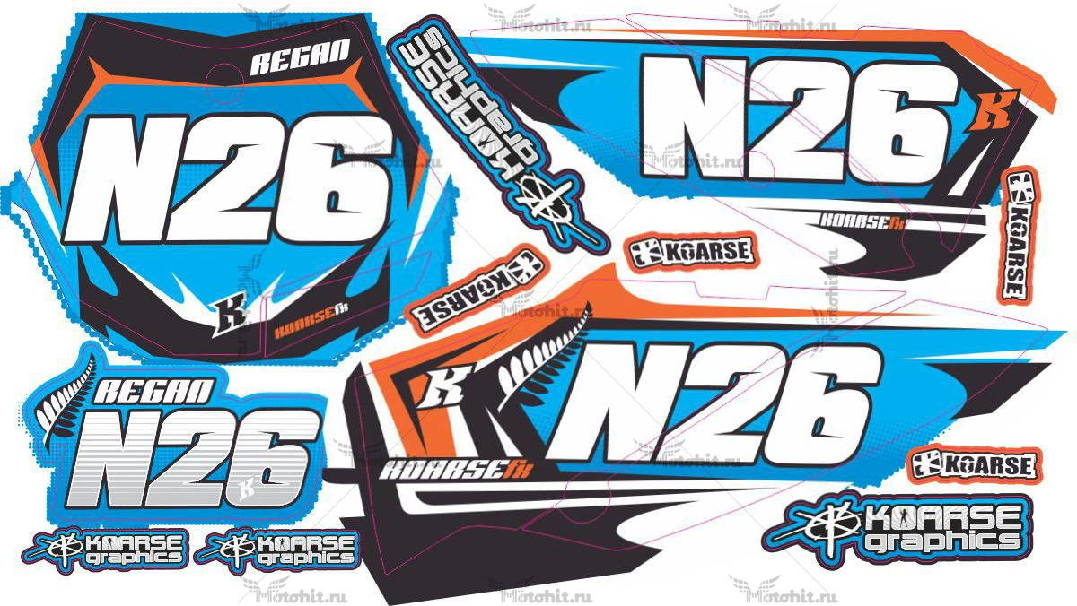 Комплект наклеек KTM SX-65 N26 2009-2012