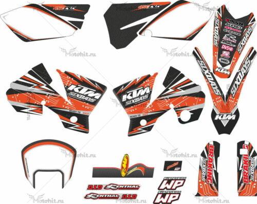Комплект наклеек KTM SX-65 2002-2008