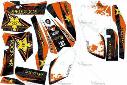 Комплект наклеек KTM SX-85 2006-2012 ROCKSTAR18-CARBON