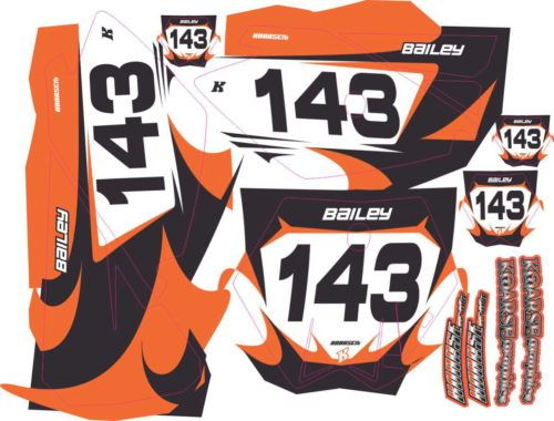 Комплект наклеек KTM SX-85-2010 BAILEY