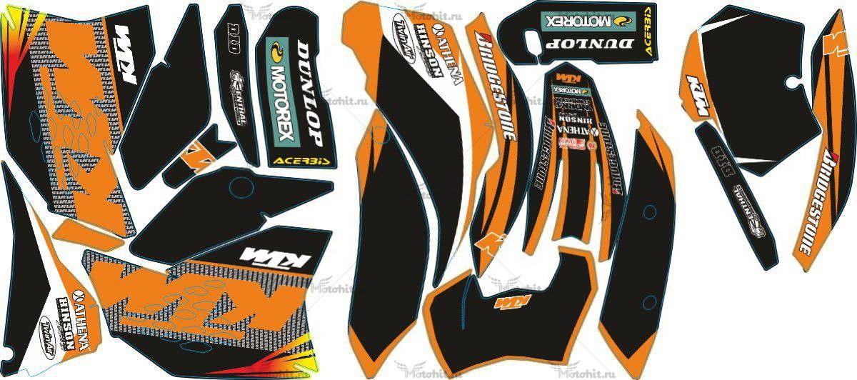 Комплект наклеек KTM SX-125 2007-2009 DUNLOP7