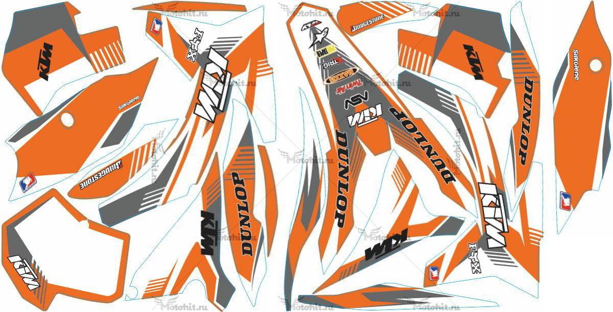 Комплект наклеек KTM SX-125 2011-2012 DUNLOP5-WHITE