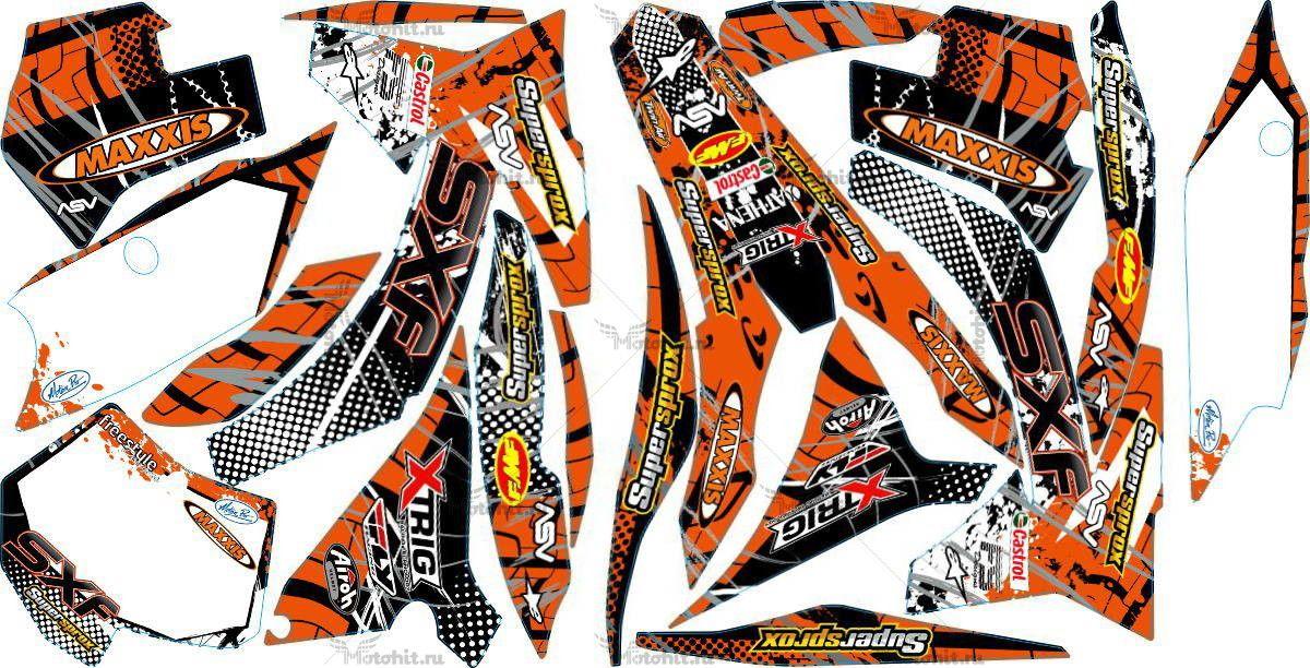 Комплект наклеек KTM SX-125 2011-2012 MAXXIS3-SXF