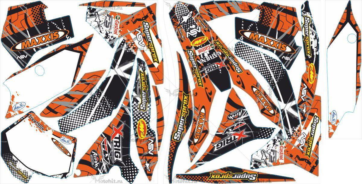 Комплект наклеек KTM SX-125 2011-2012 MAXXIS3-WHITE