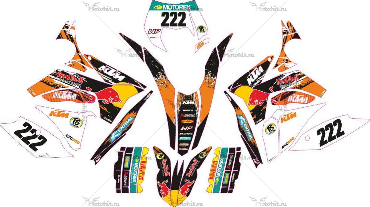 Комплект наклеек KTM SX-125 2011-2012 REDBULL