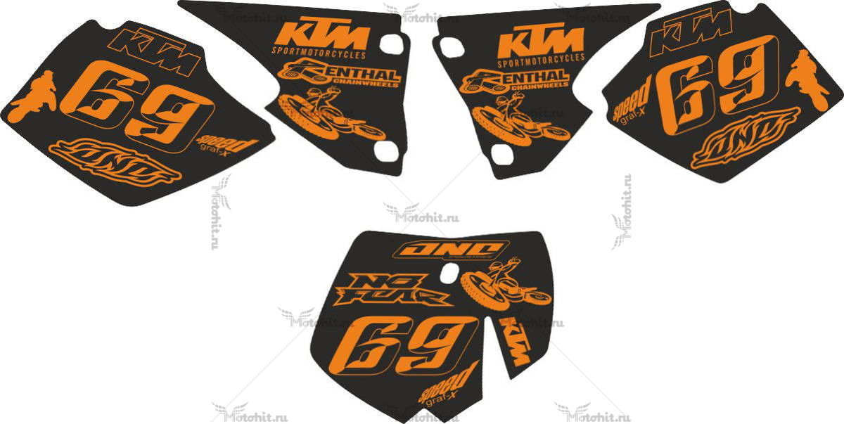 Комплект наклеек KTM SX-125 RACING