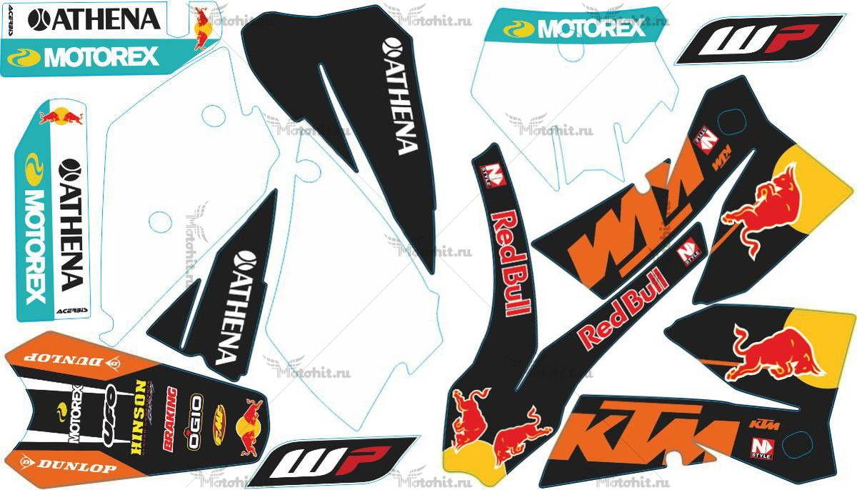 Комплект наклеек KTM SX-125 REDBULL2