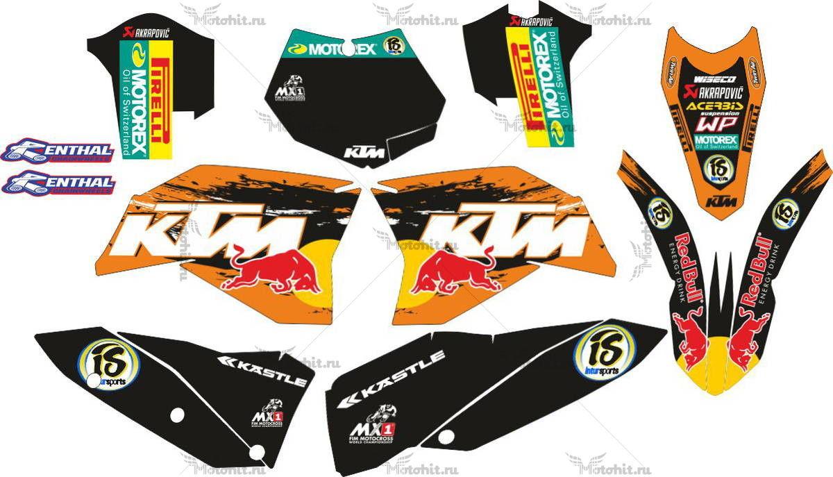 Комплект наклеек KTM SX-250-450 2007-2009