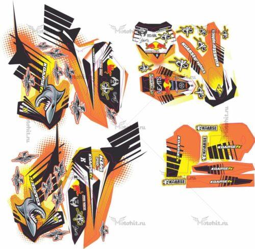 Комплект наклеек KTM SX-250 2013 JESSIE