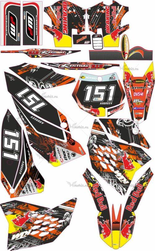 Комплект наклеек KTM SXF 2007-2010