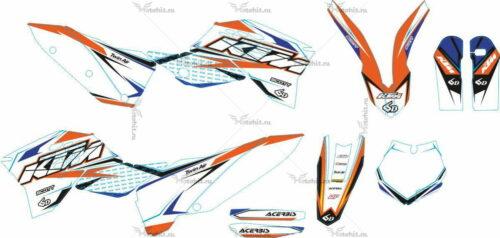 Комплект наклеек KTM SXF-125 SXF-525 2007-2010