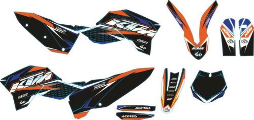 Комплект наклеек KTM SXF-125 SXF-525 2007-2010 BLACK
