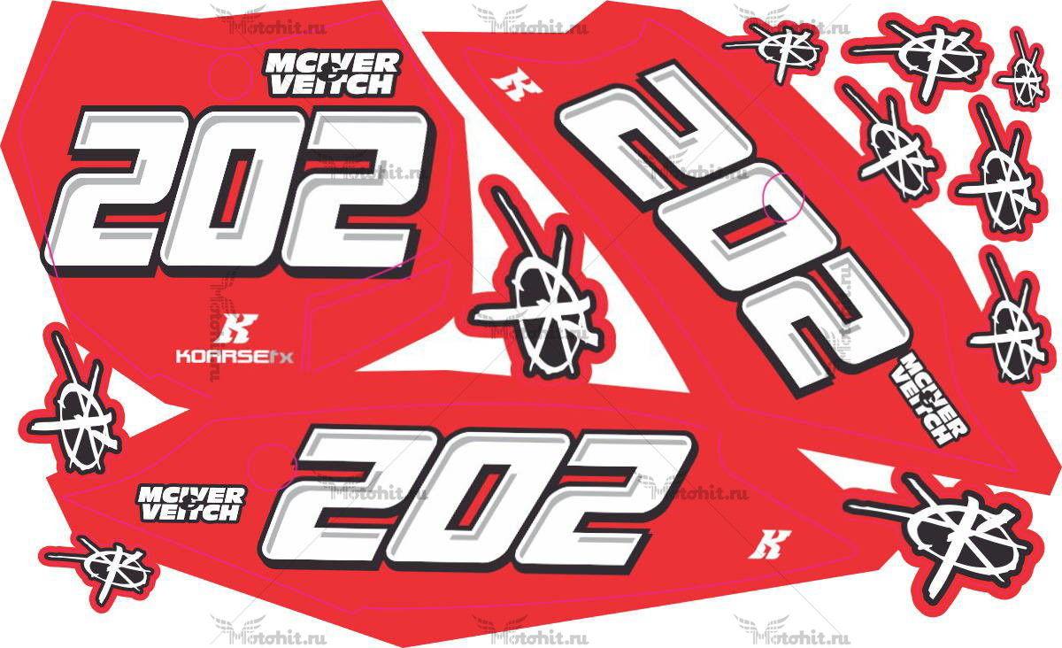 Комплект наклеек KTM SXF-350 2013 MV-NUMBER-PLATES
