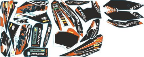 Комплект наклеек KTM SXF-450 2007 Dunlop9-black