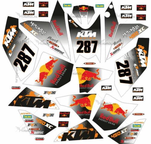 Комплект наклеек KTM XC-450