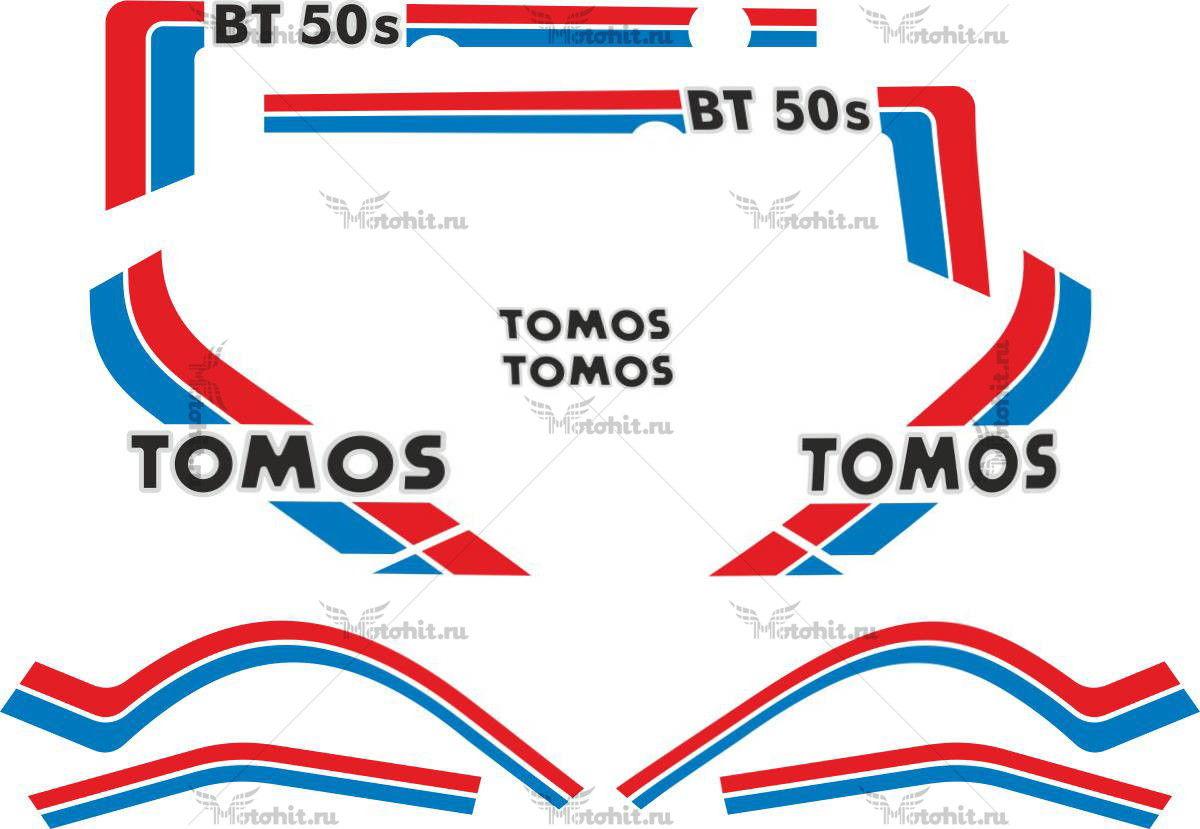 Комплект наклеек TOMOS-BT50S 1989