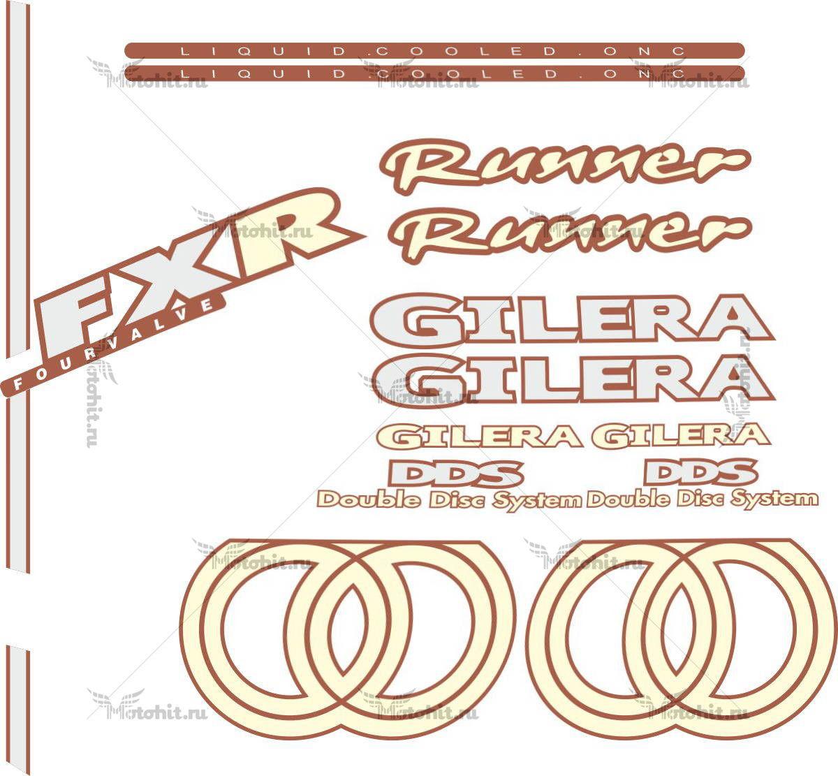 Комплект наклеек GILERA FXR