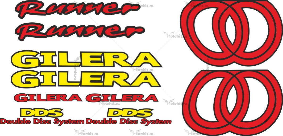 Комплект наклеек GILERA RUNNER-2