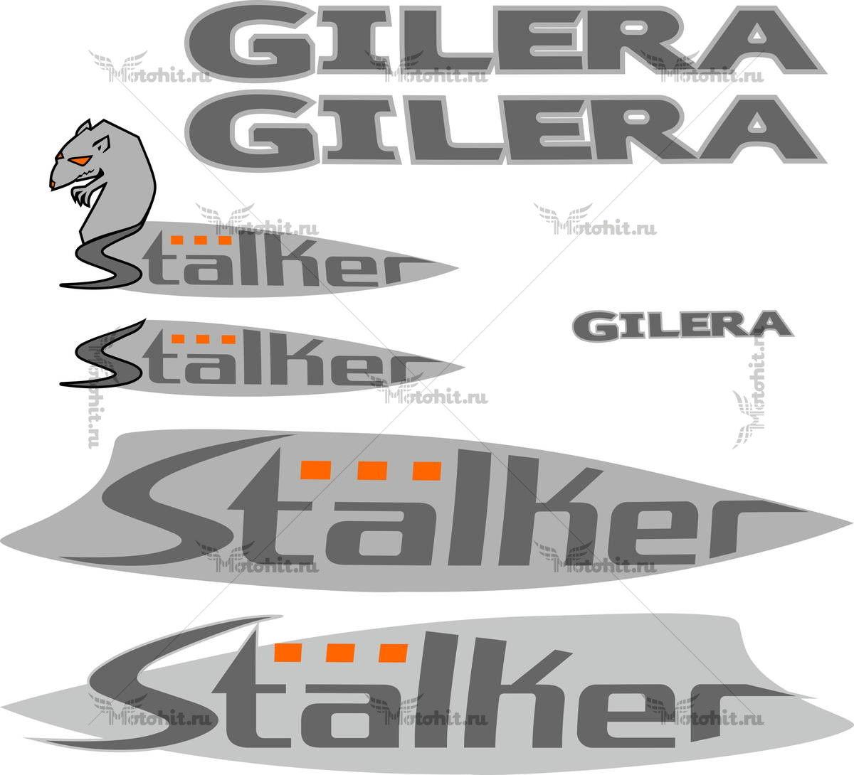Комплект наклеек GILERA STALKER-2