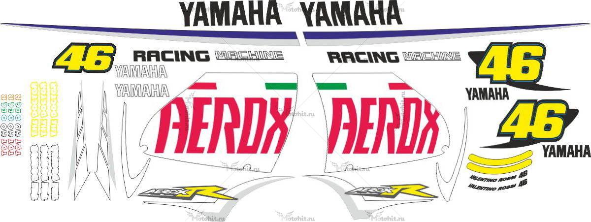 Комплект наклеек Yamaha AEROX-R 2007
