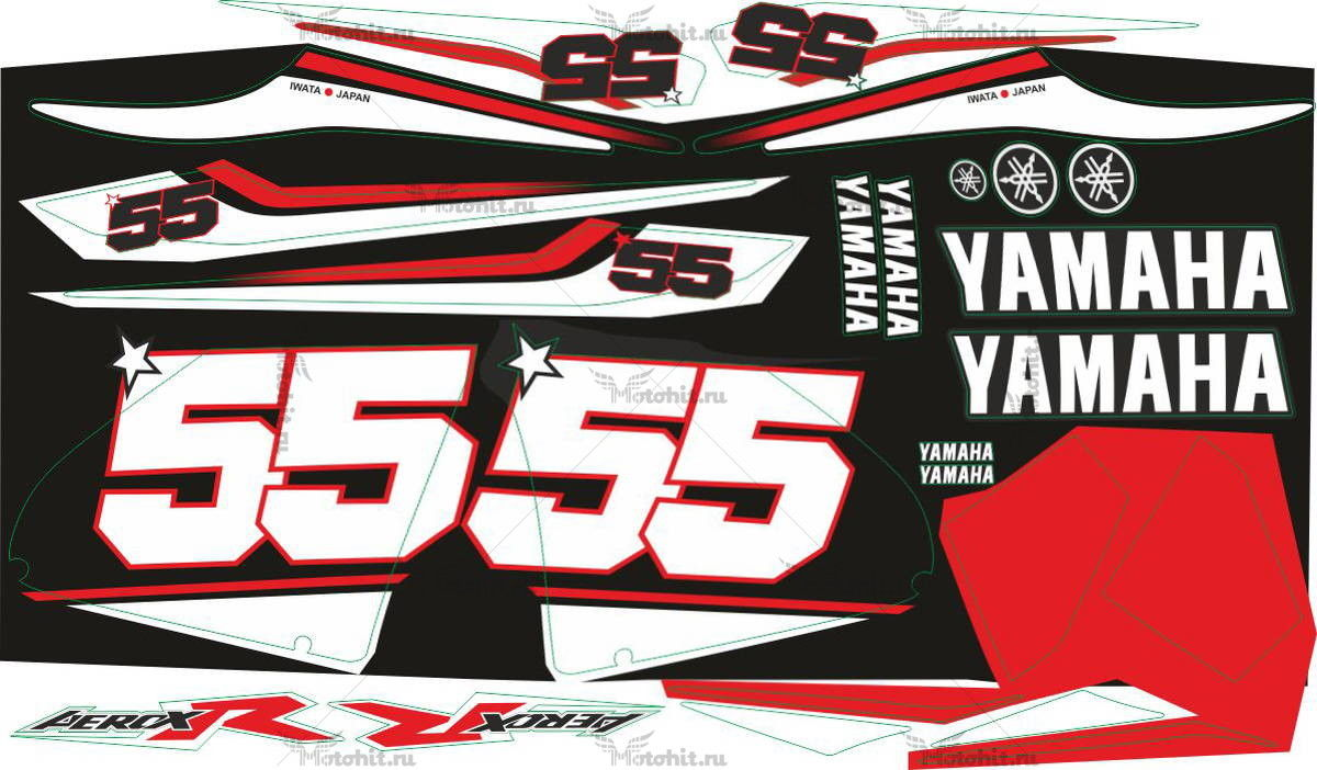 Комплект наклеек Yamaha AEROX-R-DD