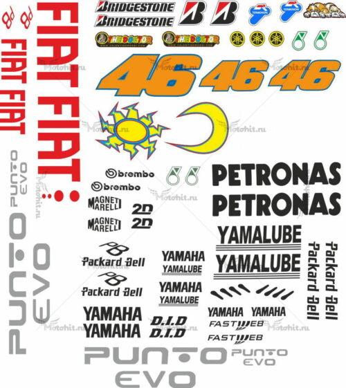 Комплект наклеек Yamaha FIAT-2009-ESTORIL-ROSSI