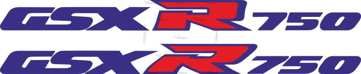 Наклейка SUZUKI GSX-750-R 1989 LOGO-LINE