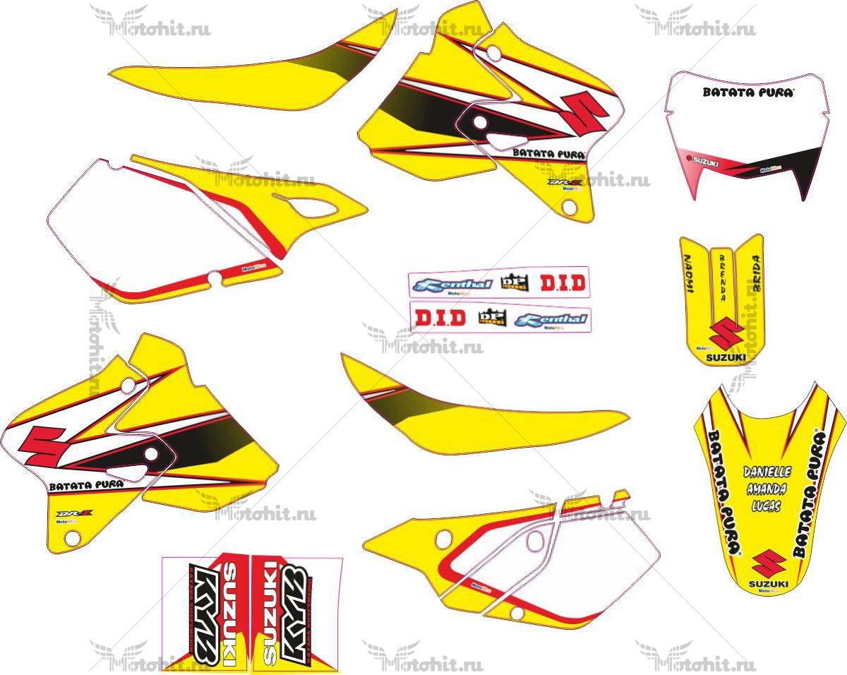 Комплект наклеек SUZUKI DRZ-400 2007 BATATA-PURA-CHECK