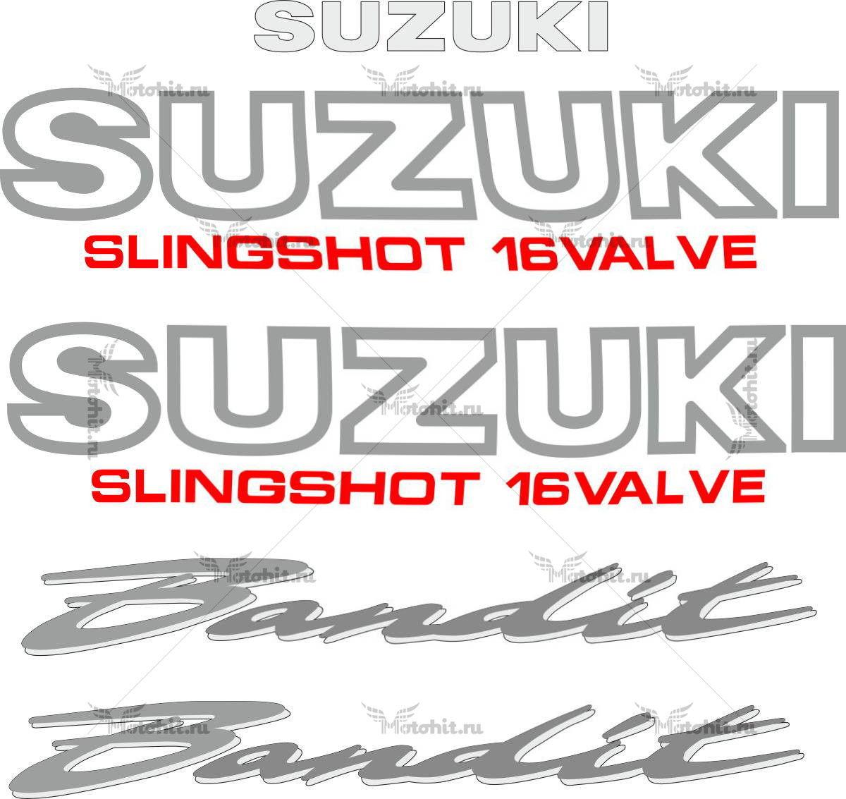 Комплект наклеек SUZUKI GSF-250 1990-1995 BANDIT