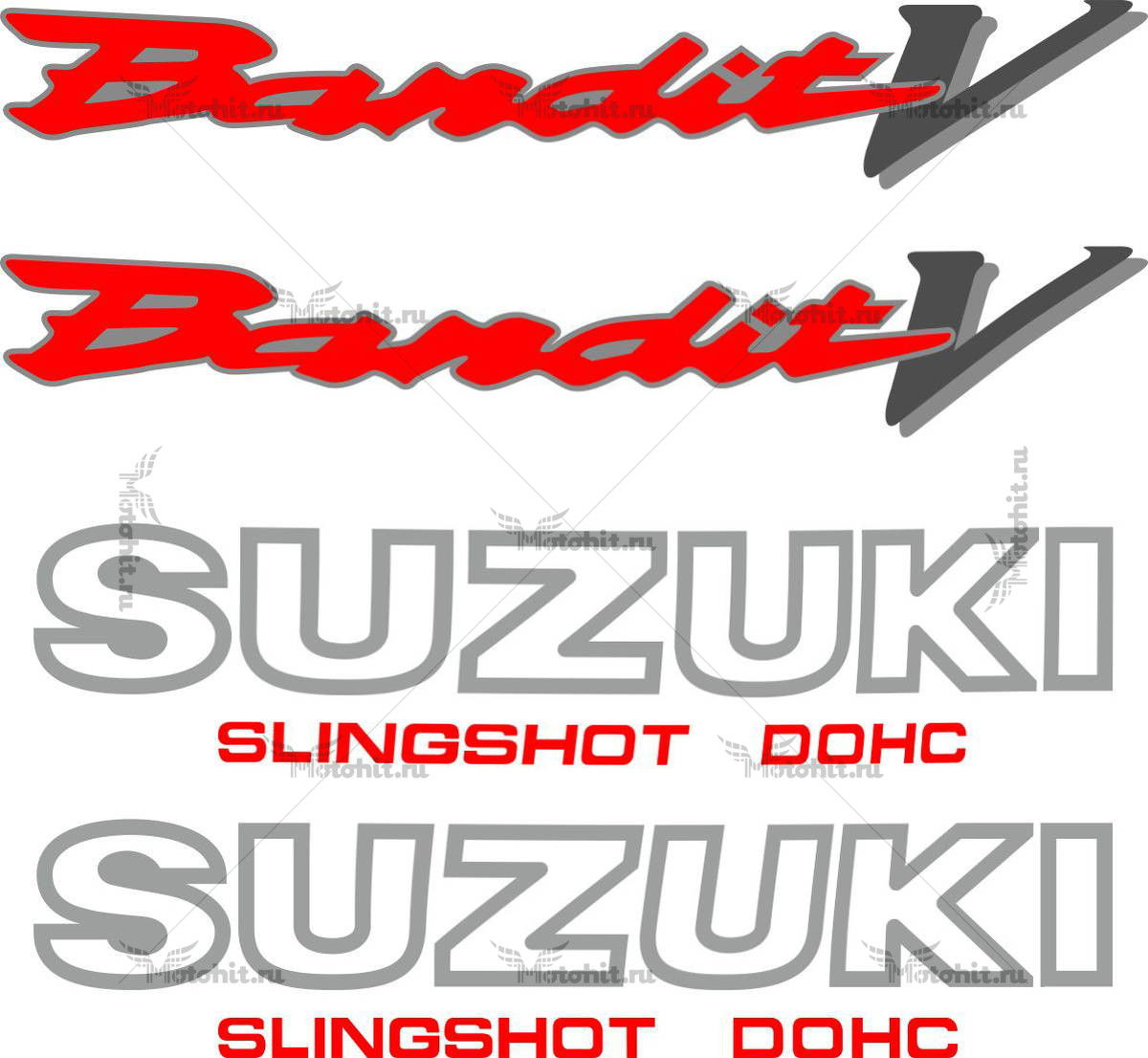 Комплект наклеек SUZUKI GSF-250-V 1990-1995 BANDIT