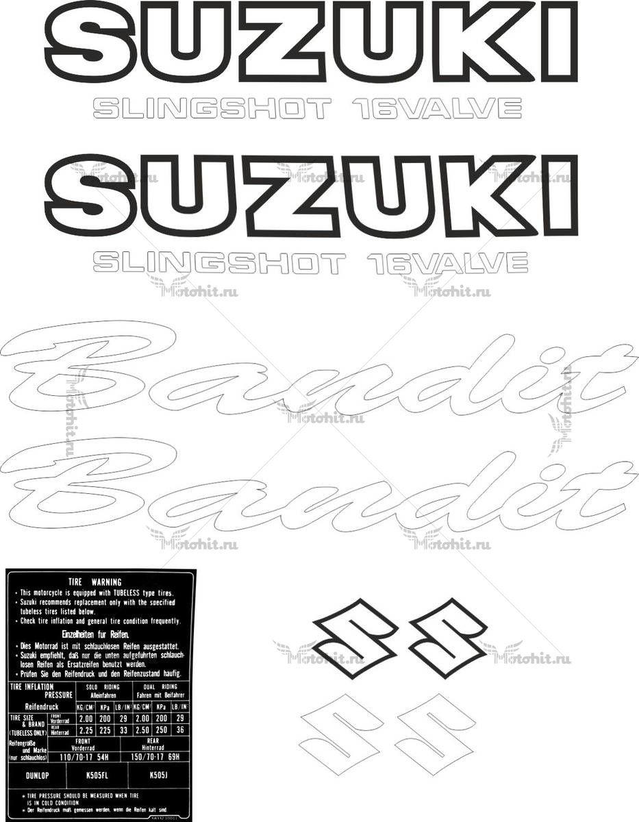 Комплект наклеек SUZUKI GSF-400 BANDIT