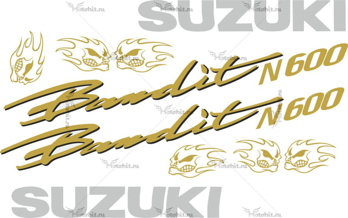 Комплект наклеек SUZUKI GSF-600-N BANDIT-GOLD