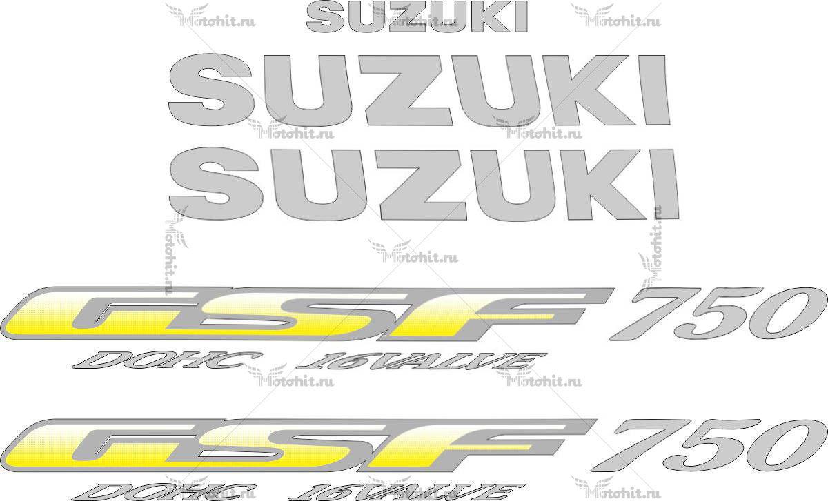 Комплект наклеек SUZUKI GSF-750 1996
