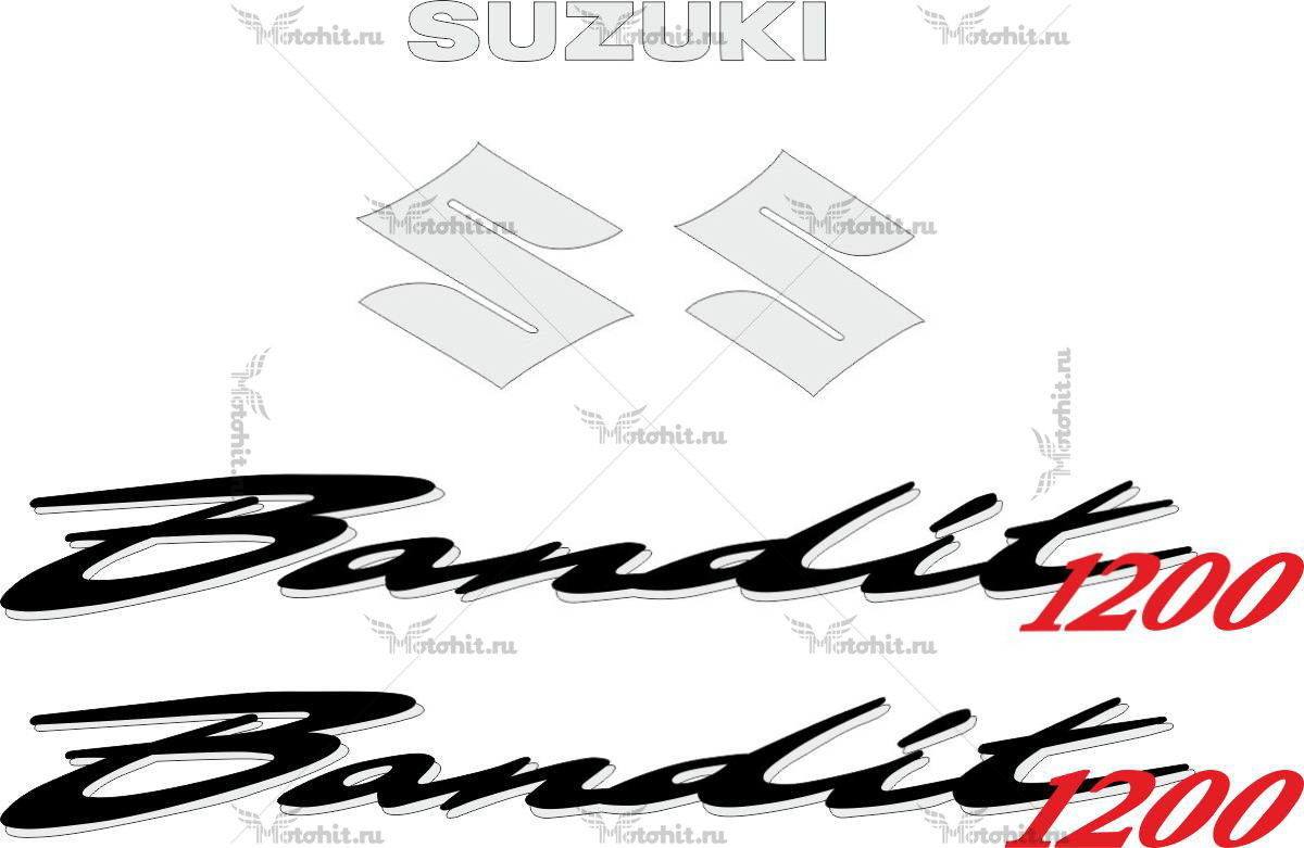 Комплект наклеек SUZUKI GSF-1200 1995-2006-BANDIT