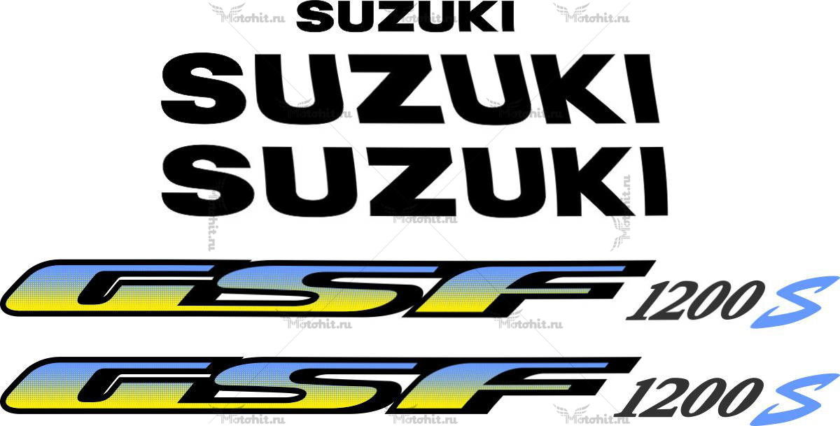 Комплект наклеек SUZUKI GSF-1200 1995-2006-BANDIT-Y
