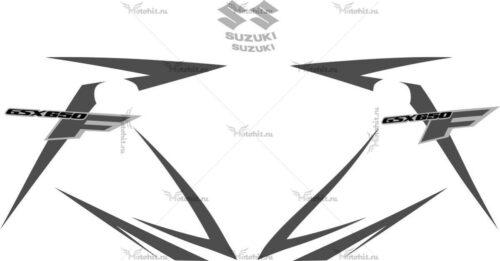 Комплект наклеек SUZUKI GSX-650-F 2013 BLACK
