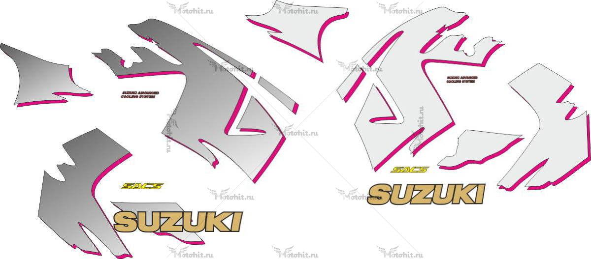 Комплект наклеек SUZUKI GSX-600-F-2