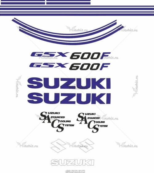 Комплект наклеек SUZUKI GSX-600-F 1988