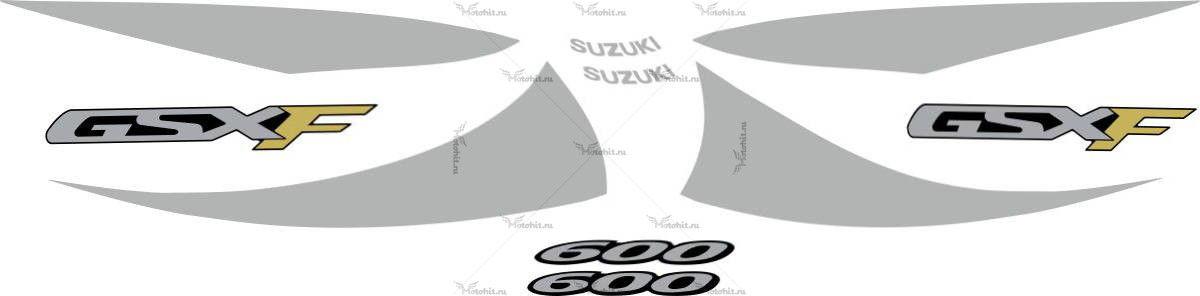 Комплект наклеек SUZUKI GSX-600-F 2000-2002