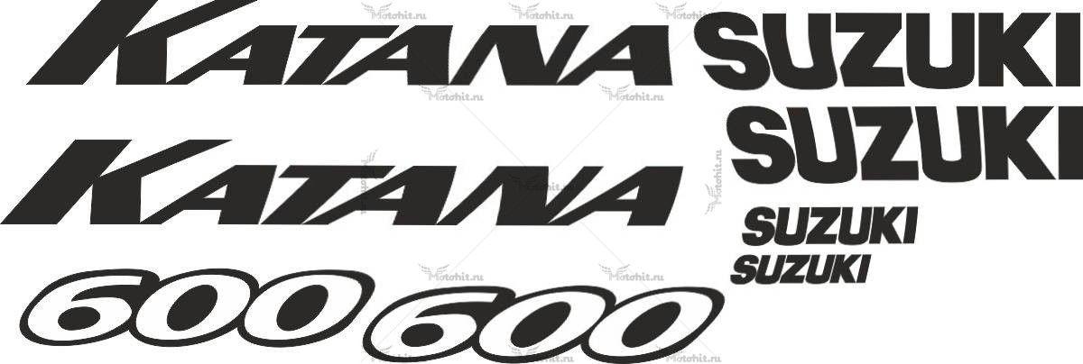 Комплект наклеек SUZUKI GSX-600 KATANA 2003