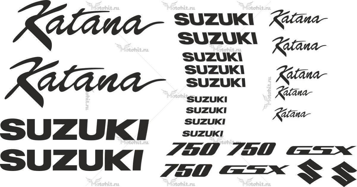 Комплект наклеек SUZUKI GSX-750 25-STICKER