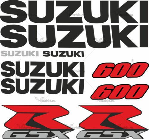 Комплект наклеек SUZUKI GSX-R-600 2000