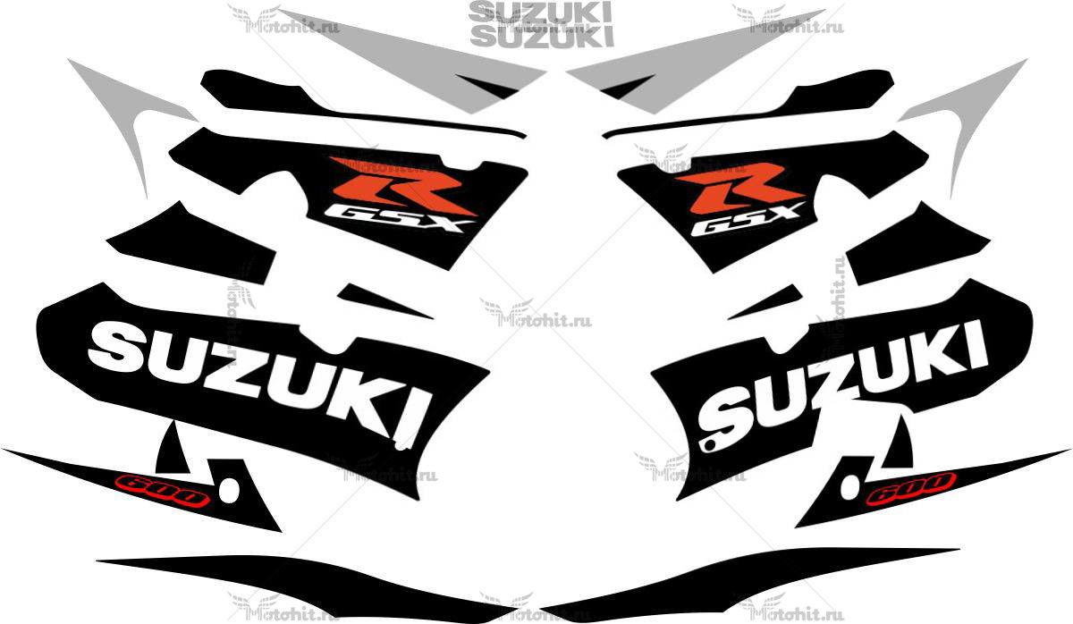 Комплект наклеек SUZUKI GSX-R-600 2003 BLACK