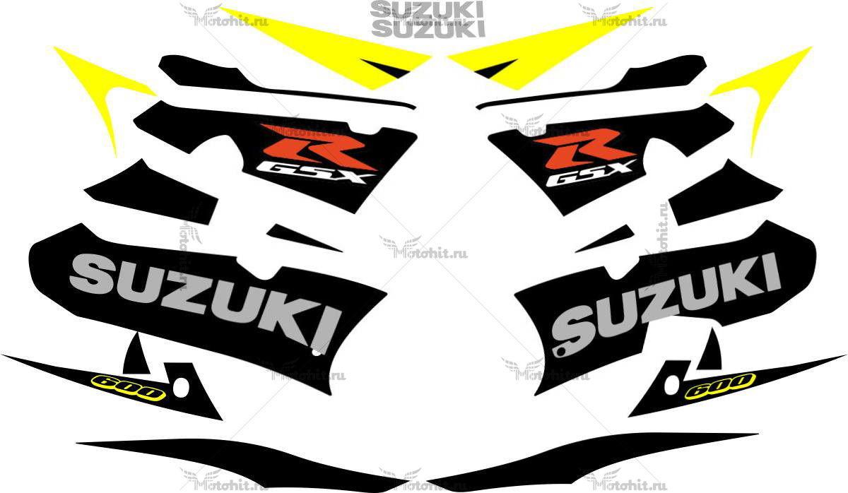 Комплект наклеек SUZUKI GSX-R-600 2003 YELLOW
