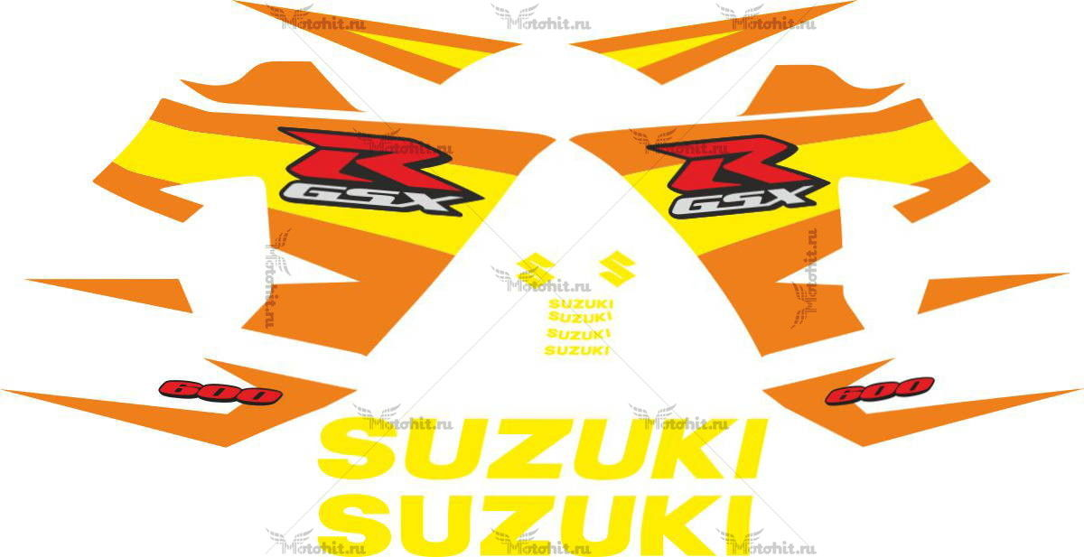 Комплект наклеек SUZUKI GSX-R-600 2004-2005 ORANGE