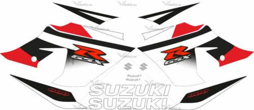 Комплект наклеек SUZUKI GSX-R-600 2004-2005 WHITE-RED