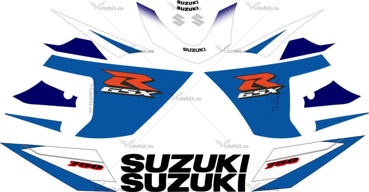 Комплект наклеек SUZUKI GSX-R-600 2005