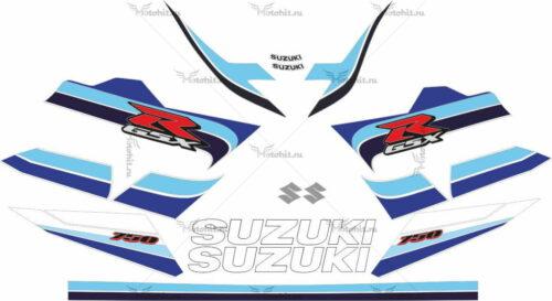 Комплект наклеек SUZUKI GSX-R-600 2005 SILVER-BLUE-WHITE