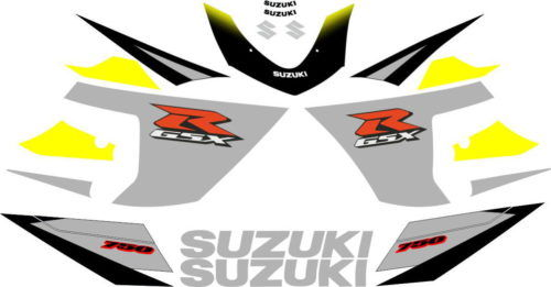 Комплект наклеек SUZUKI GSX-R-600 2005 SILVER-YELLOW