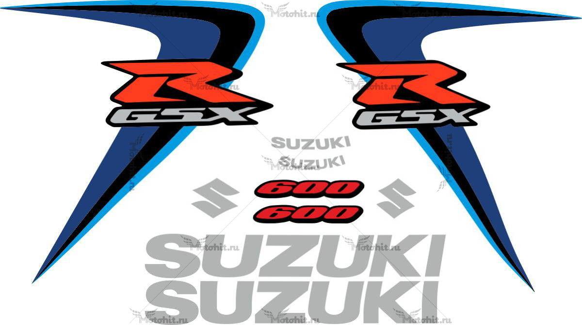 Комплект наклеек SUZUKI GSX-R-600 2006-2